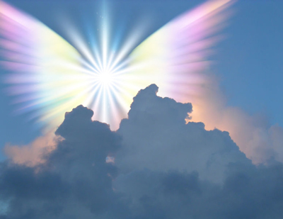 Angel in the clouds, medium, psychic, communicate with the other side
