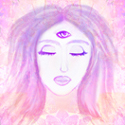 Psychic woman graphic