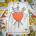 Tarot Card Heart Swords